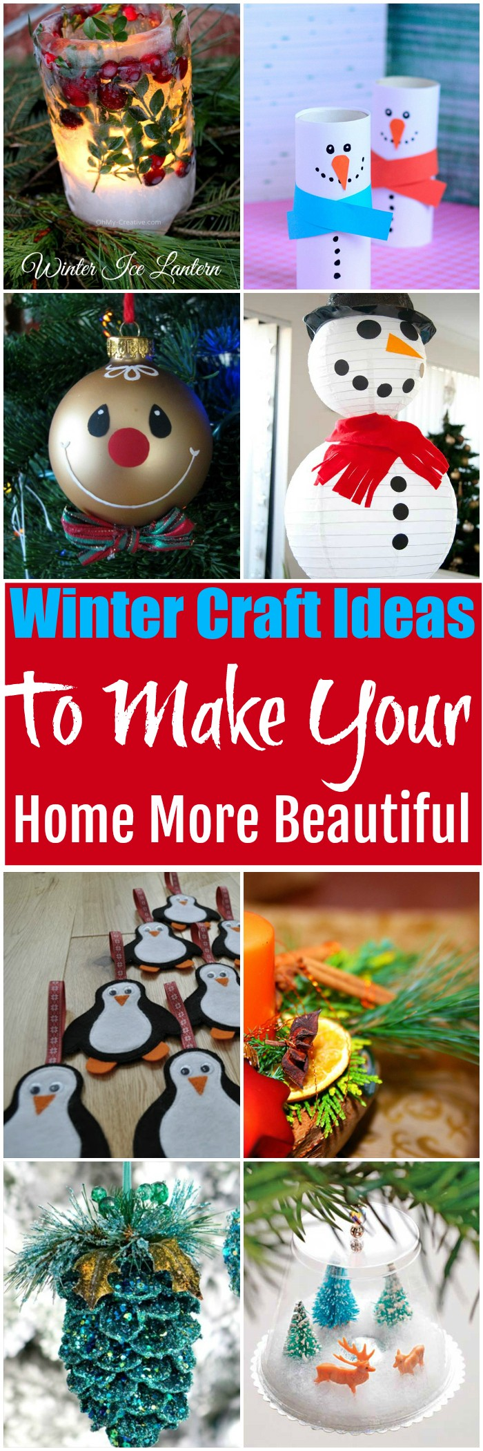 Winter Craft Ideas To Make Your Home More Beautiful