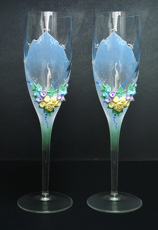 diy decorated glass 5 15 lovely DIY decorated glass ideas you must see