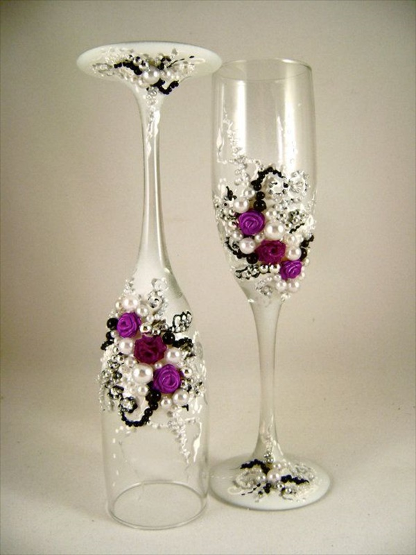 diy decorated glass 6 15 lovely DIY decorated glass ideas you must see
