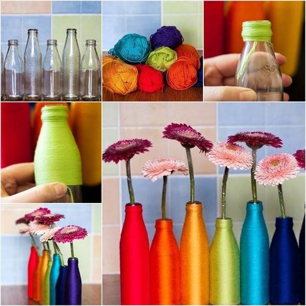 diy vase 12 15 DIY Vase Ideas To Make Your Home Lovely