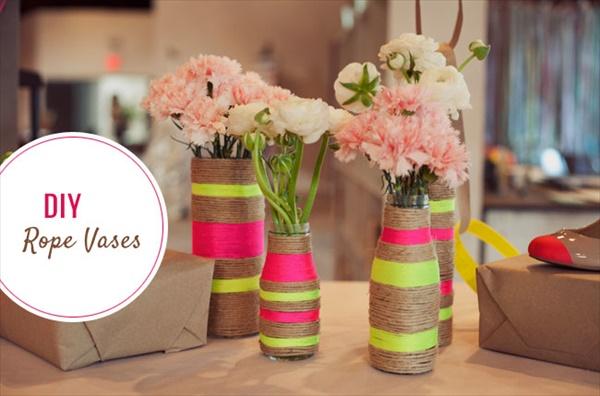 diy vase 5 15 DIY Vase Ideas To Make Your Home Lovely