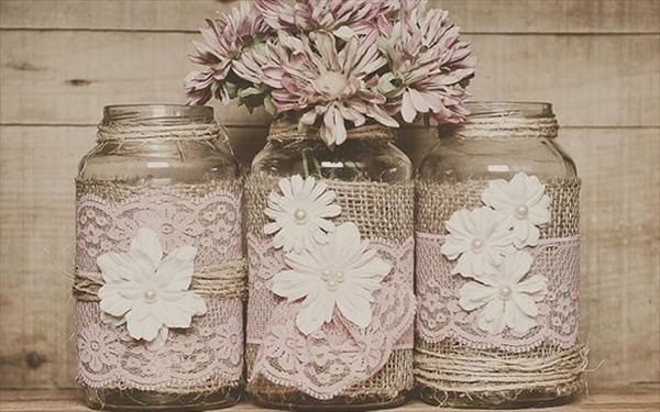 16 lovely and cute mason jar crafts you can make easily for Jar crafts