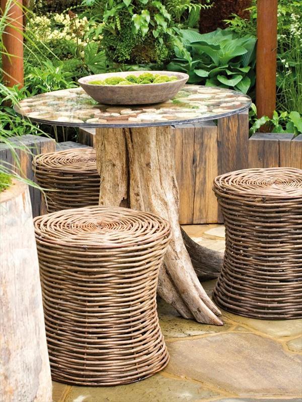 tree stump 1 Transform Tree Stump Into Home Decoration Items