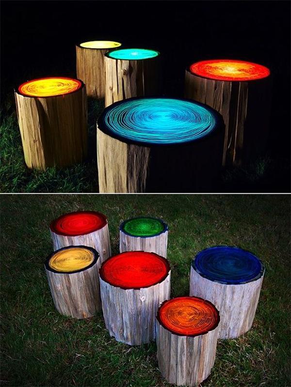tree stump 10 Transform Tree Stump Into Home Decoration Items