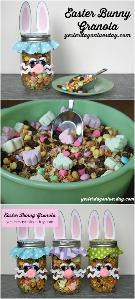 10 granola jar easter jar crafts diyncrafts Wonderful Mason Jar Easter Crafts You Can Gift And Décor Your Home