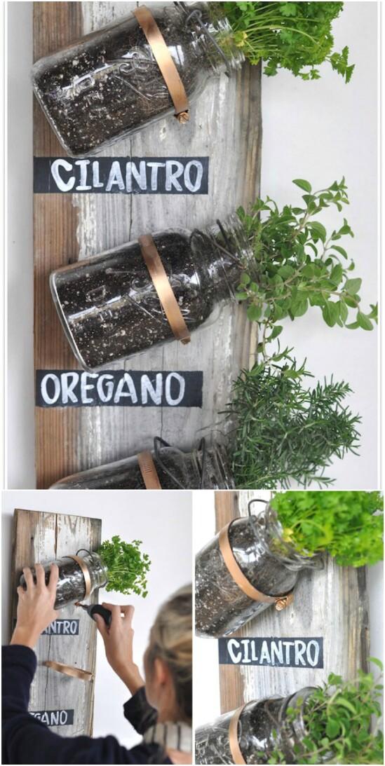 11 herb organizers 15 Amazing DIY Mason Jar Organizers You'll Want To Make Right Away