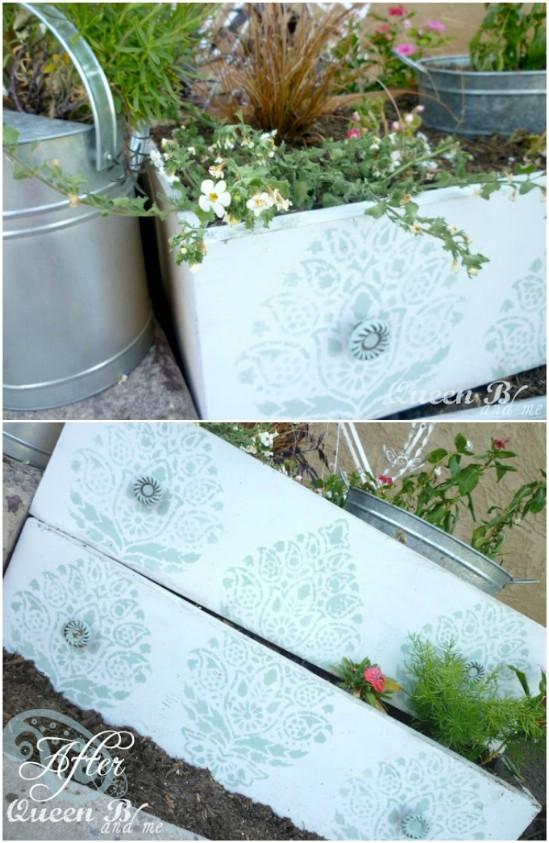 12 drawer planters diyncrafts spring porch decorations 16 Inspiring DIY Spring Porch Decorating Ideas