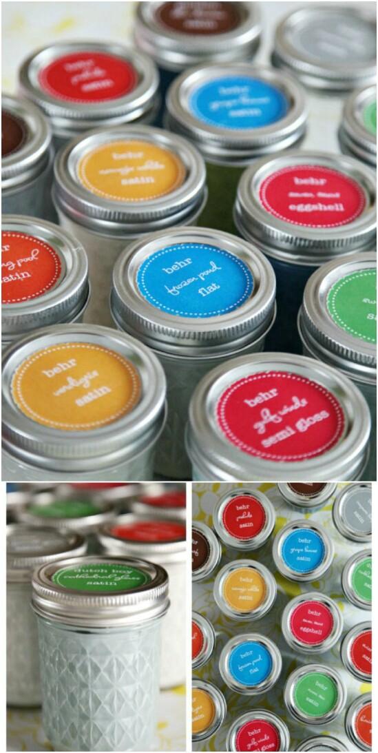 13 paint storage 15 Amazing DIY Mason Jar Organizers You'll Want To Make Right Away