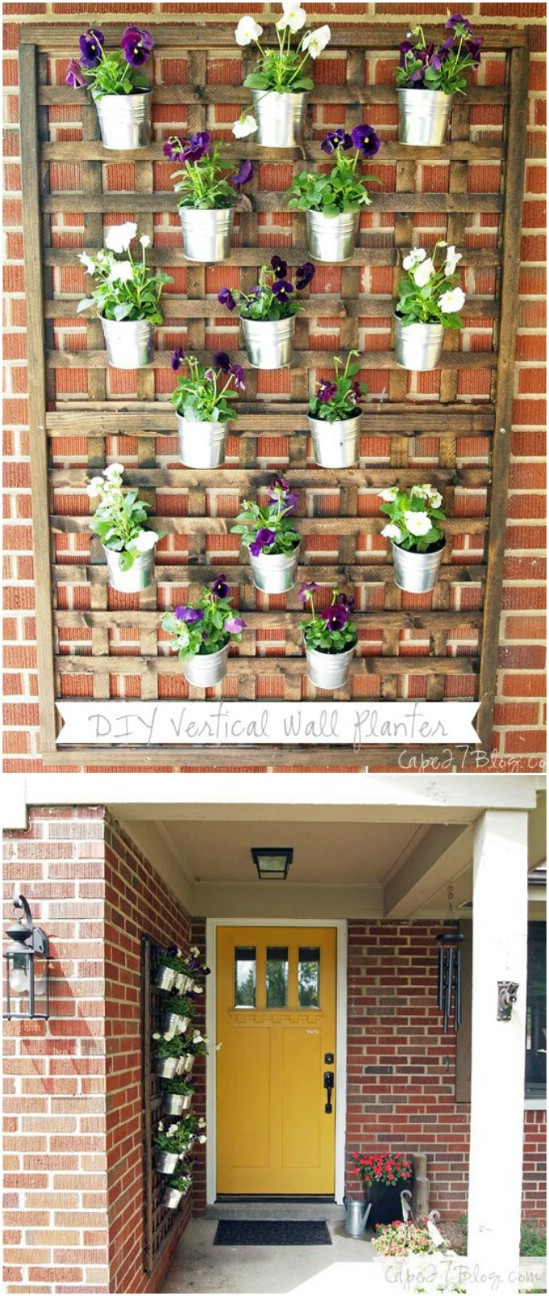 13 vertical wall planter diyncrafts spring porch decorations 16 Inspiring DIY Spring Porch Decorating Ideas