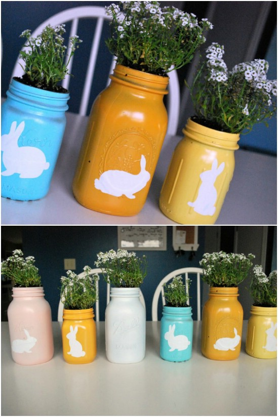 14 painted jars easter jar crafts diyncrafts Wonderful Mason Jar Easter Crafts You Can Gift And Décor Your Home