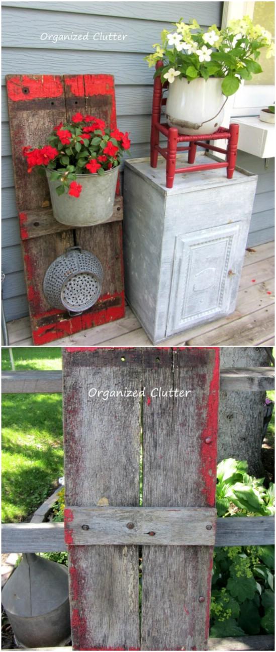 15 wagon board planter diyncrafts spring porch decorations 16 Inspiring DIY Spring Porch Decorating Ideas