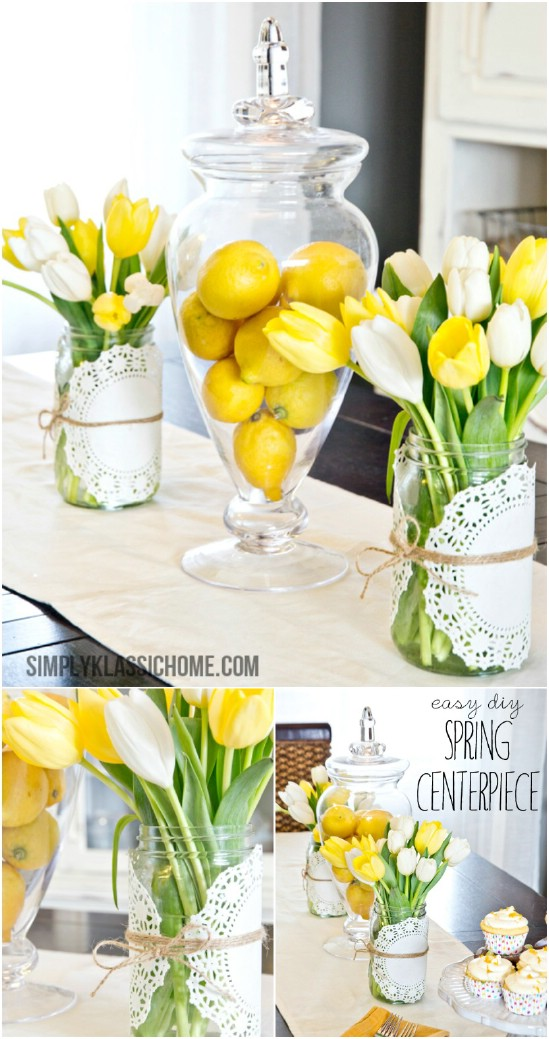 22 spring centerpiece easter jar crafts diyncrafts Wonderful Mason Jar Easter Crafts You Can Gift And Décor Your Home