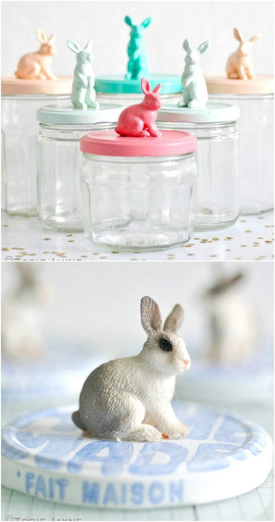 25 bunny jar toppers easter jar crafts diyncrafts Wonderful Mason Jar Easter Crafts You Can Gift And Décor Your Home