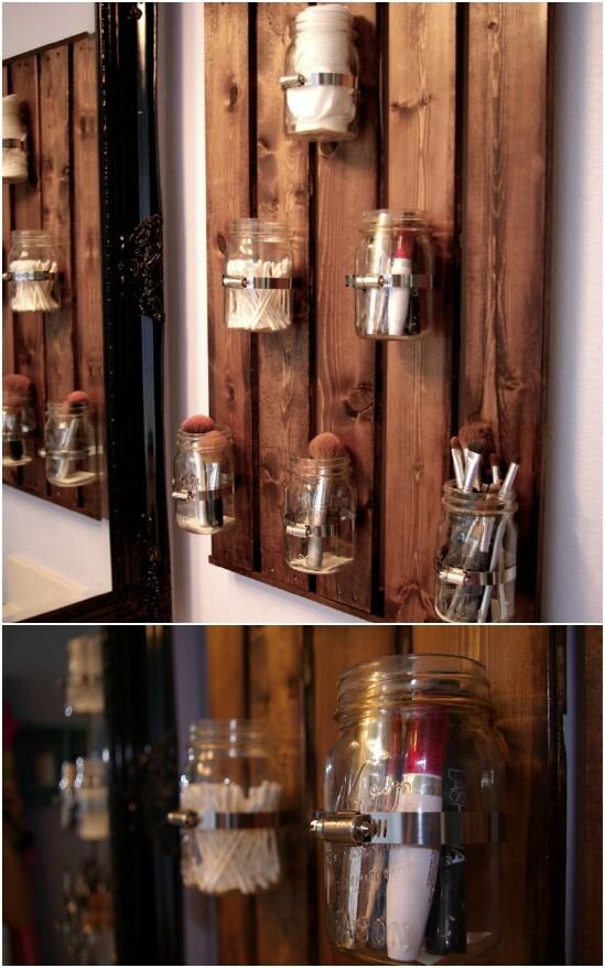 3 bathroom organizer 15 Amazing DIY Mason Jar Organizers You'll Want To Make Right Away