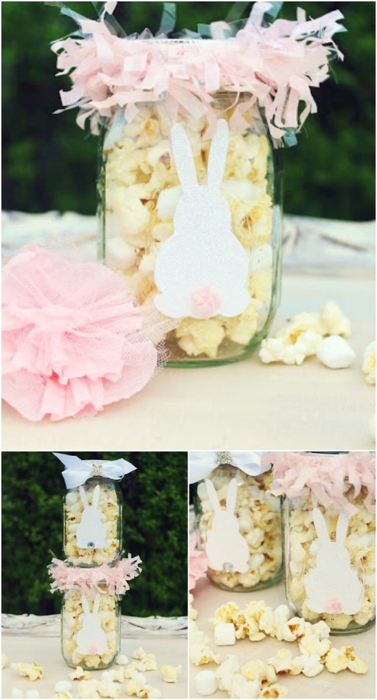 4 bunny munch jars easter jar crafts diyncrafts 1 Wonderful Mason Jar Easter Crafts You Can Gift And Décor Your Home