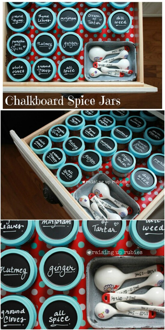 5 spice organizer 15 Amazing DIY Mason Jar Organizers You'll Want To Make Right Away