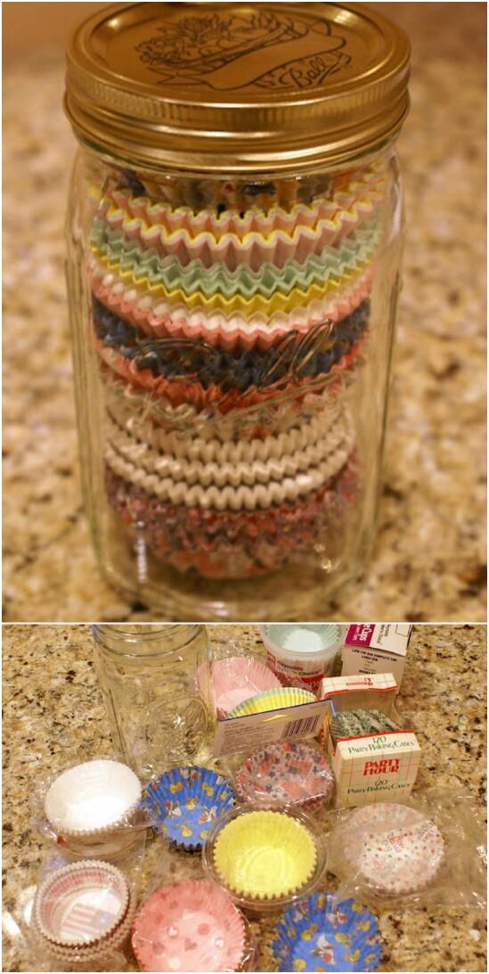 6 cupcake organizer 15 Amazing DIY Mason Jar Organizers You'll Want To Make Right Away