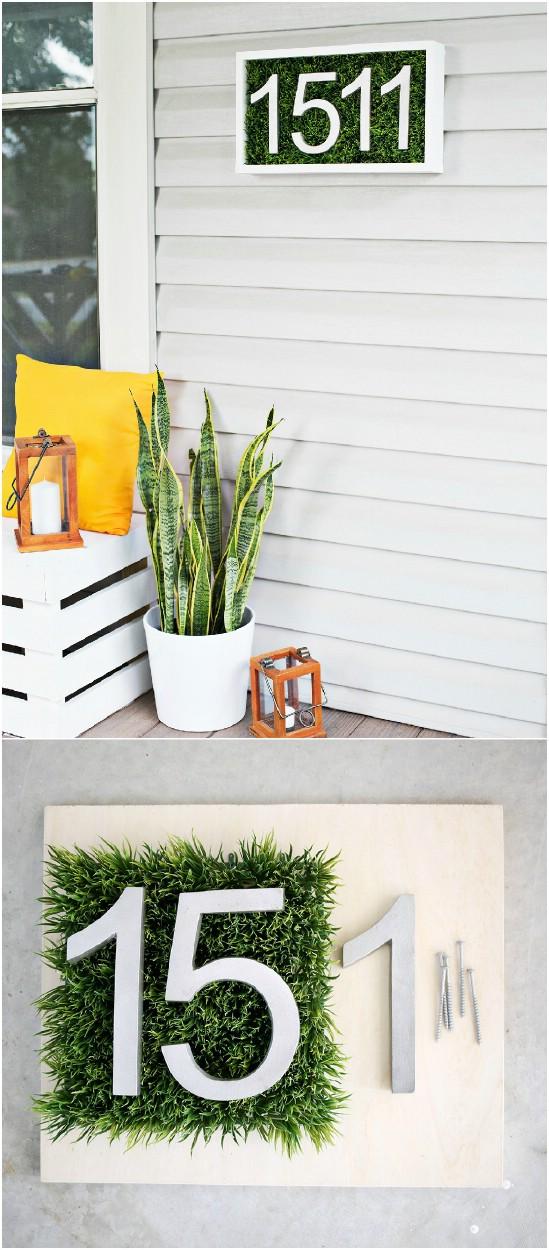 7 house number diy diyncrafts spring porch decorations 16 Inspiring DIY Spring Porch Decorating Ideas