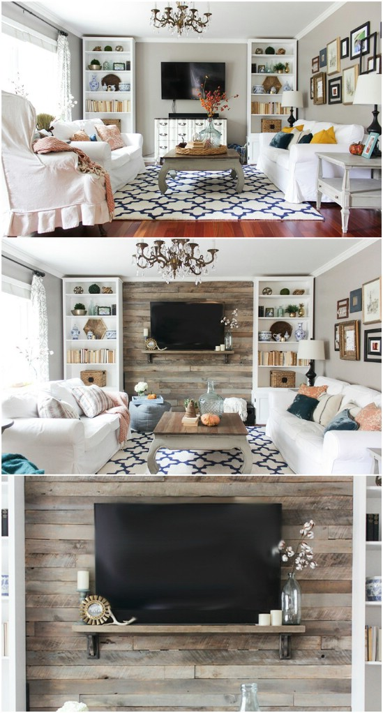 1 media center wall diyncrafts media center units DIY projects to make over your media center