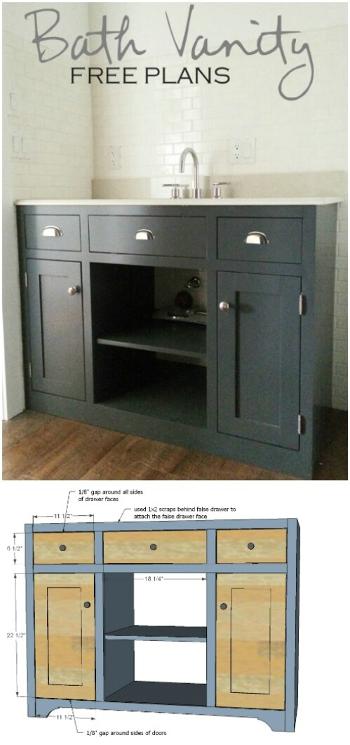 12 vanity free plans 17 Lovely DIY Bathroom Vanities to Make Your Life Beautiful and Easy