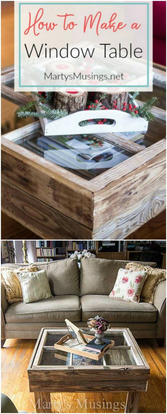 21 window table old window projects diyncrafts Recycling Ideas For Old Windows You Will Amaze