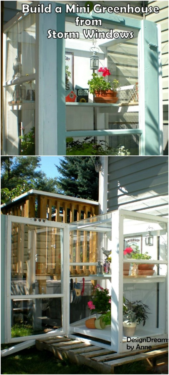3 mini greenhouse old window projects diyncrafts Recycling Ideas For Old Windows You Will Amaze