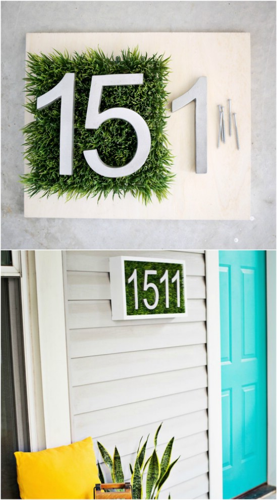 3 modern house number house number diy projects  Beautifully Displaying DIY House Number Ideas to beautify your Home