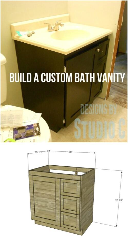 6 custom diy vanity 17 Lovely DIY Bathroom Vanities to Make Your Life Beautiful and Easy