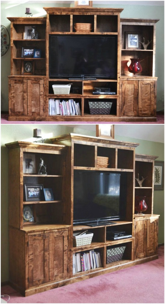 8 media center unit diyncrafts media center units DIY projects to make over your media center