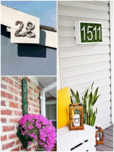 Beautifully Displaying DIY House Number Ideas to beautify your Home