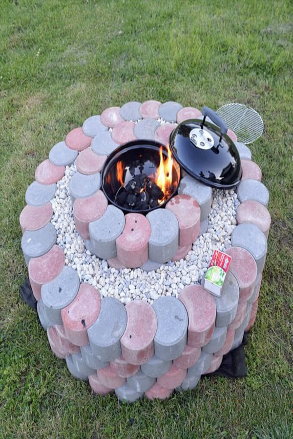 13 diy firepit ideas homebnc Easy and Functional DIY Fire pit Ideas to Make Your Backyard Beautiful