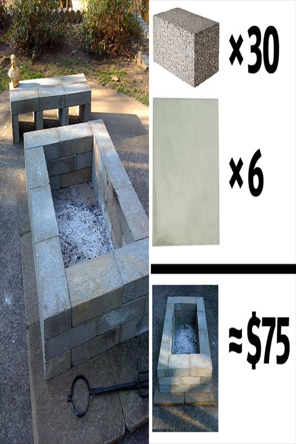 14 diy firepit ideas homebnc Easy and Functional DIY Fire pit Ideas to Make Your Backyard Beautiful