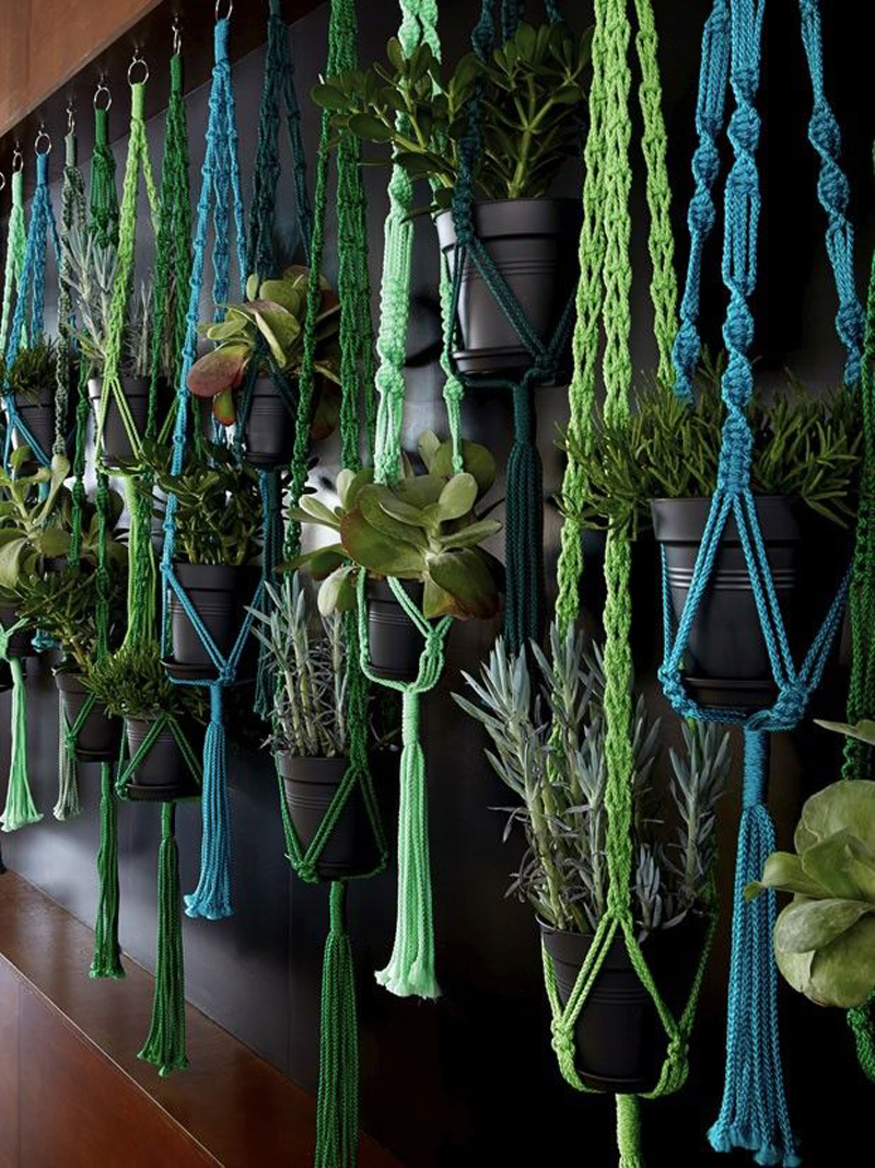 Macrame Eye Candy designrulz 6 DIY Macramé Plant Hanger Ideas That Will Beautify Your Home