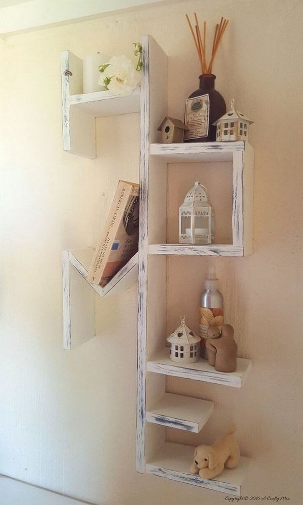 "Distressed Rustic ""Home"" Entryway DIY Bookshelves"