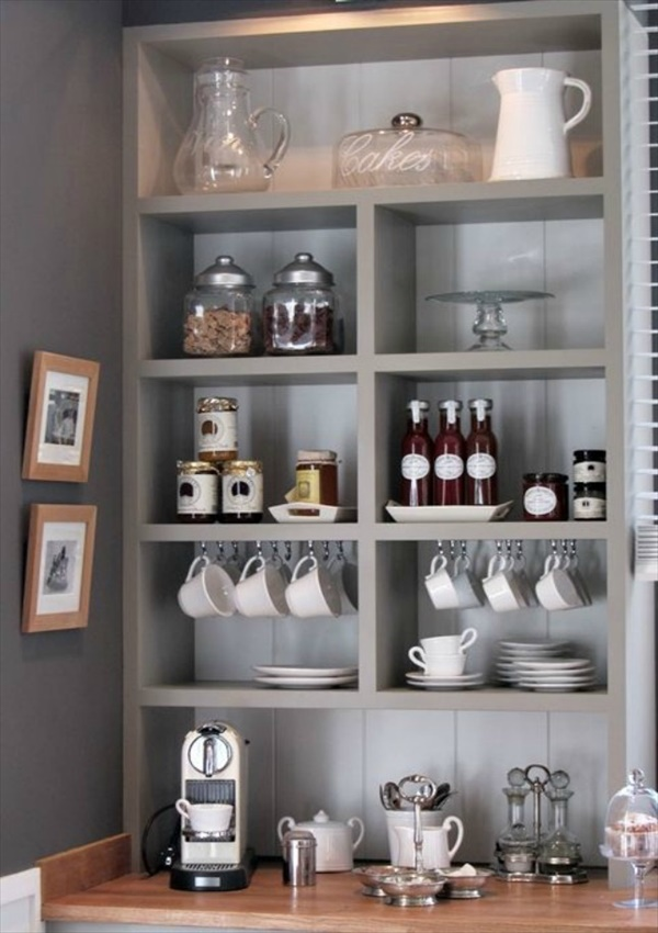bookshelves Beautiful And Amazing DIY Coffee Bar Ideas You Must Try