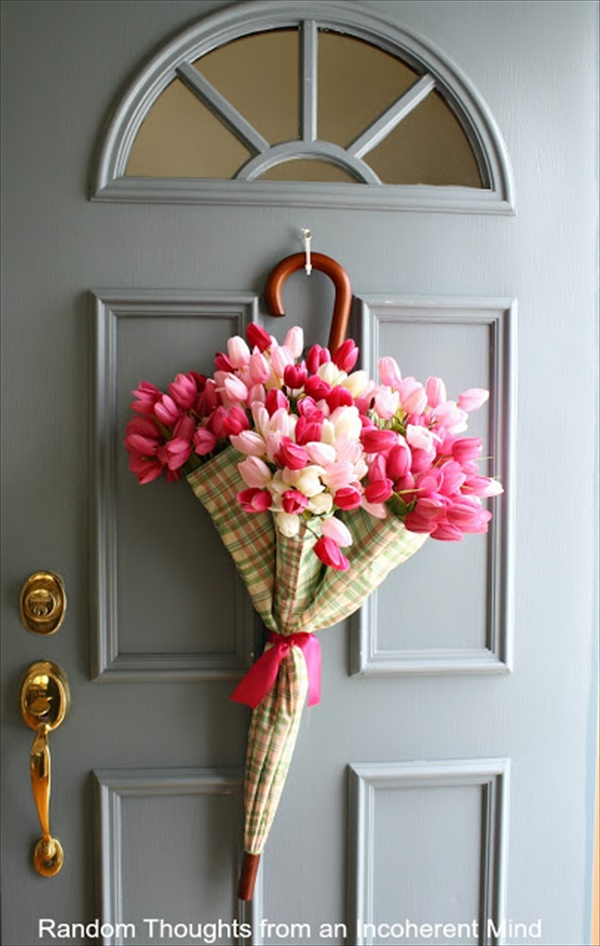 April showers spring wreath Spring Wreath Ideas That Will Upgrade Your Front Door