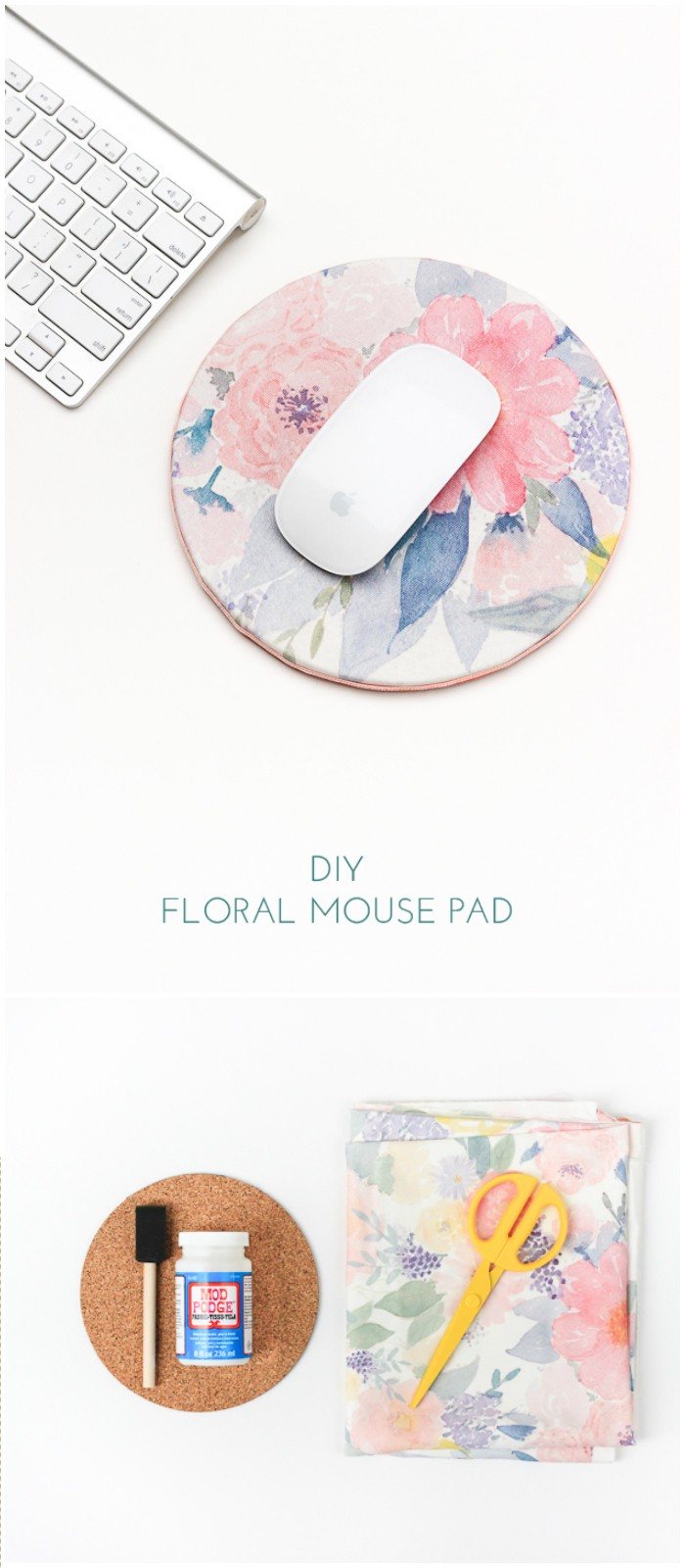 DIY Floral Mouse Pad Dollar Store Home Organizing Ideas