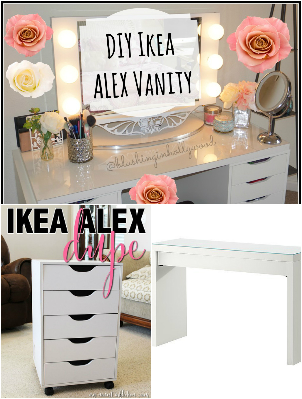 DIY IKEA ALEX VANITY Incredible DIY Makeup Vanity Table Ideas That Will Grab Your Attention
