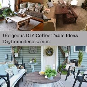 Gorgeous DIY Coffee Table Ideas That Will Make Your Room Creative