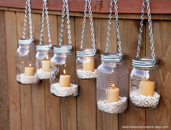 Mason Jar Candle Holders Interesting DIY Upcycling Ideas That Will Beautify Your Home