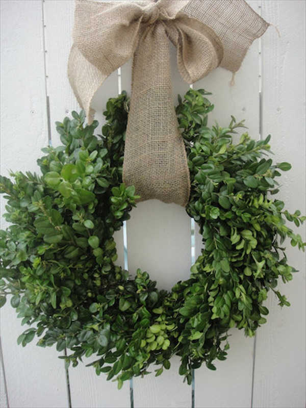 boxwood wreath Spring Wreath Ideas That Will Upgrade Your Front Door