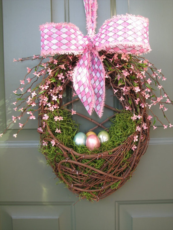 easterbasketwreath Spring Wreath Ideas That Will Upgrade Your Front Door