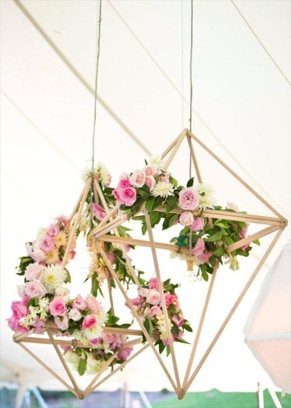 florals wooden chandelier