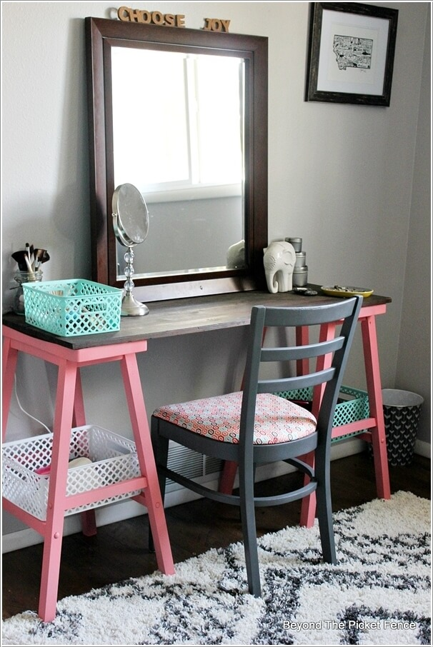 Cheap diy makeup vanity table ideas diy home decor for Cheap vanity table set