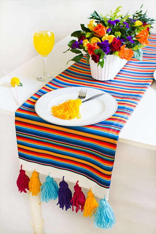 Colorful Mexican style table runner idea