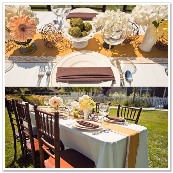 DIY table runner for your wedding