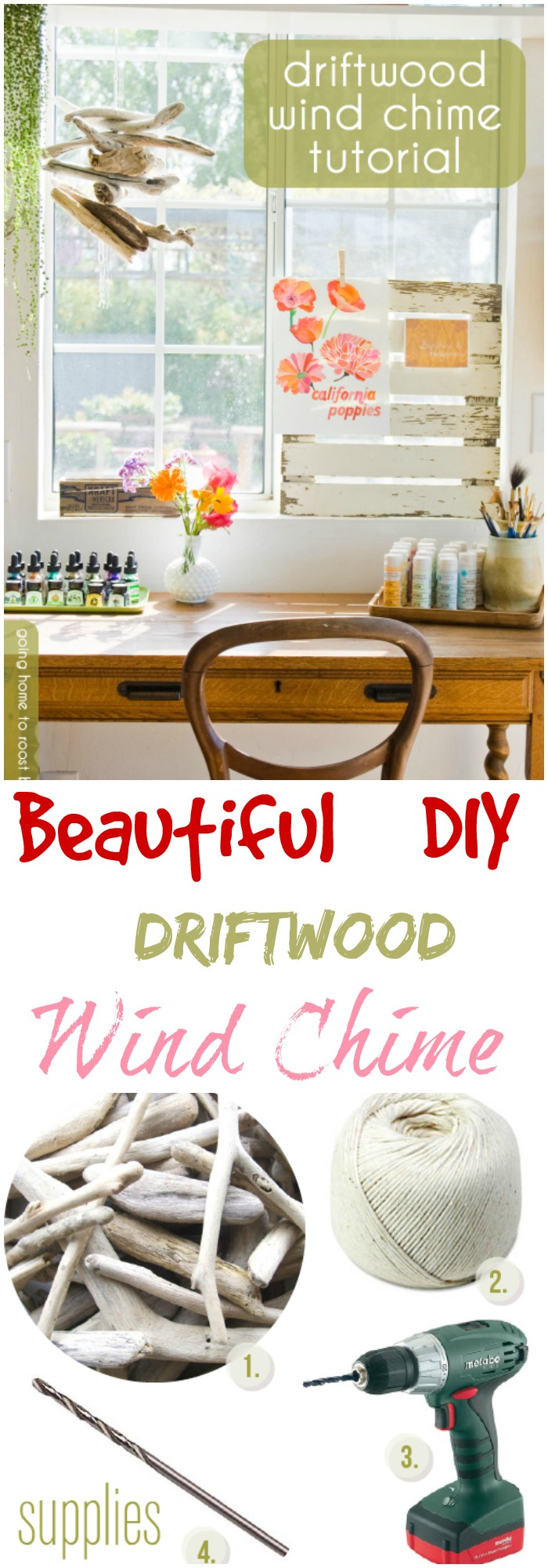 Outstanding DIY Wind Chimes Ideas To Make Your Home Marvelous Beautiful DIY Driftwood Wind Chime