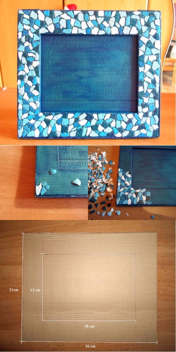 DIY Eggshell Mosaic Picture Frame 15 Mind Blowing Mosaic Projects For Your Indoor And Outdoor