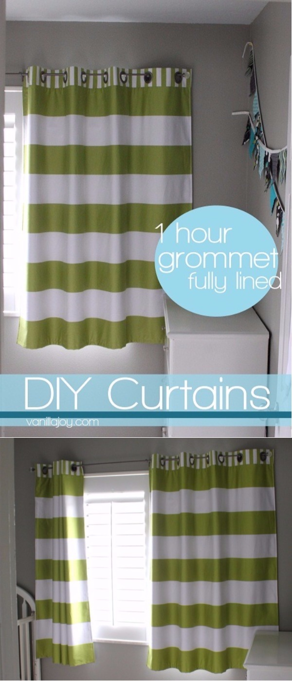 Diy Grommet Curtains - You can use grommets along the top of the curtain panels and thread can be used onto the rod its so easy to get the lined grommet top diy curtains
