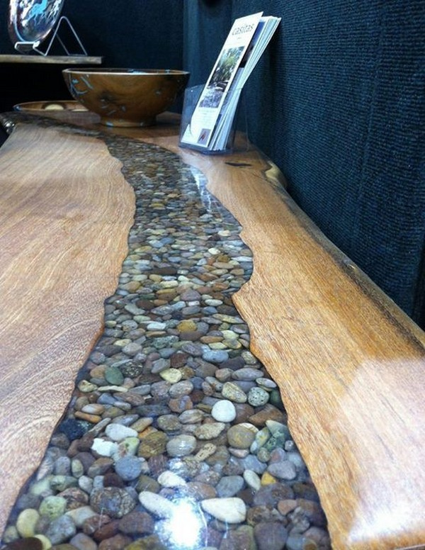 Woodworking with river rocks
